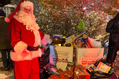 Santa with Toys For Tots Collection