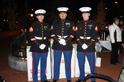 Toys For Tots Toy Drive with Marines